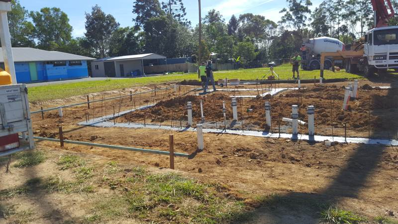 Traditional concrete footings