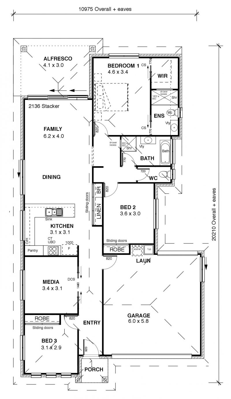 AA Coastal 186 Floor plan