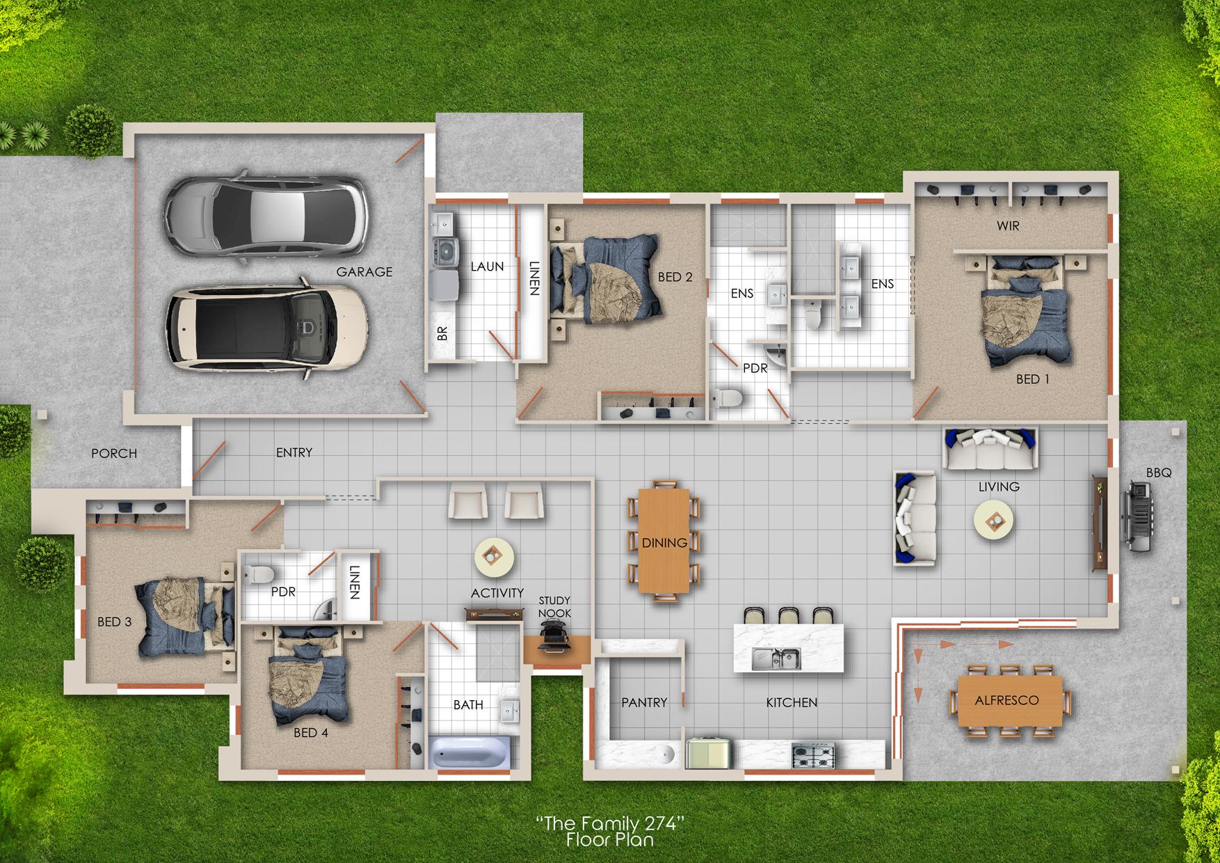 4 Bedroom Activity Room 2 Ensuites 1 Bath Alfresco